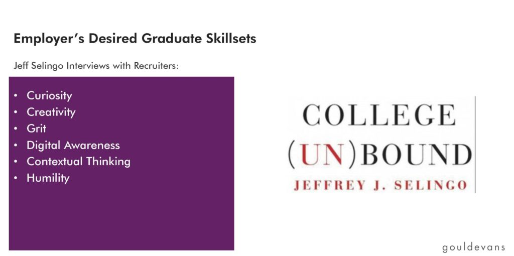 Employer's Desired Graduate Skillsets: Jeff Selingo Interviews with Recruiters